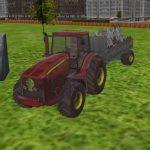 3D city tractor garbage sim