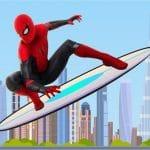 Spiderman Skateboarding