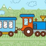 Trains For Kids Coloring
